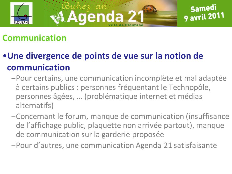 Une divergence de points de vue sur la notion de communication
