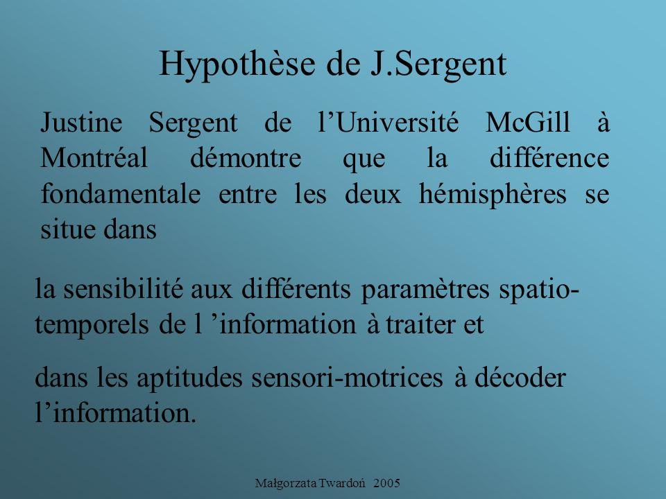 Hypothèse de J.Sergent