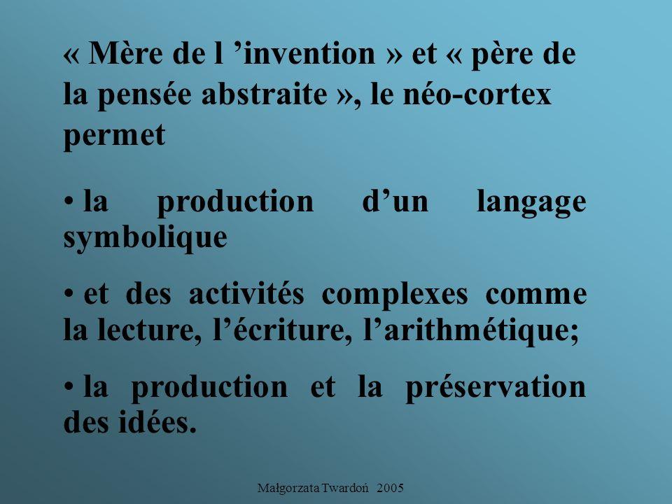la production d'un langage symbolique