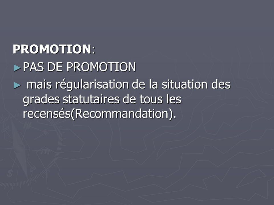 PROMOTION: PAS DE PROMOTION.