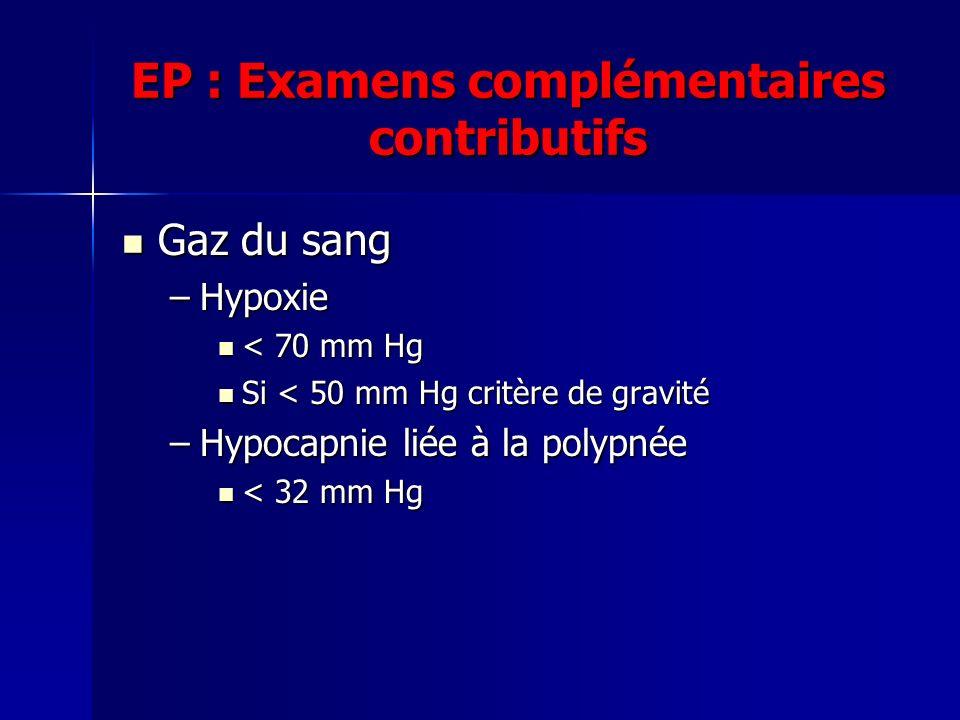 EP : Examens complémentaires contributifs
