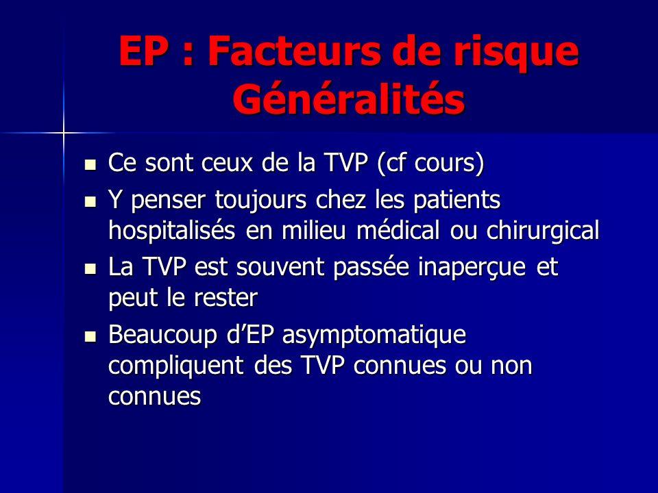 EP : Facteurs de risque Généralités
