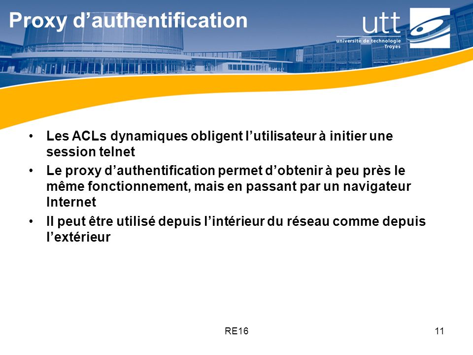 Proxy d'authentification