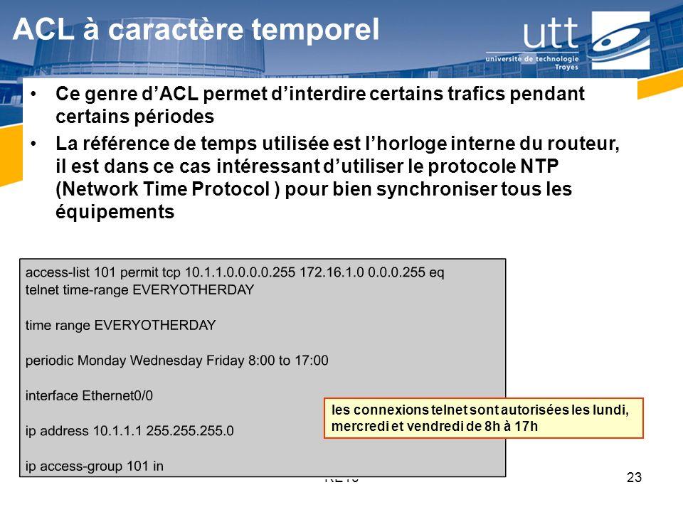 ACL à caractère temporel