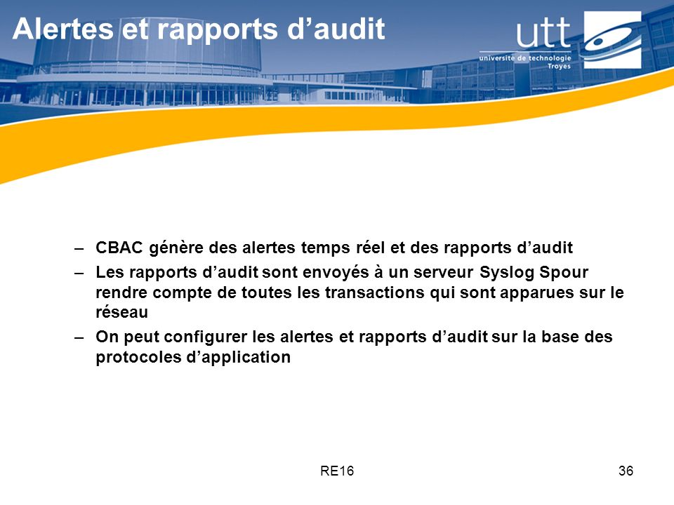Alertes et rapports d'audit
