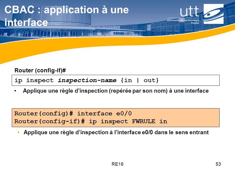 CBAC : application à une interface