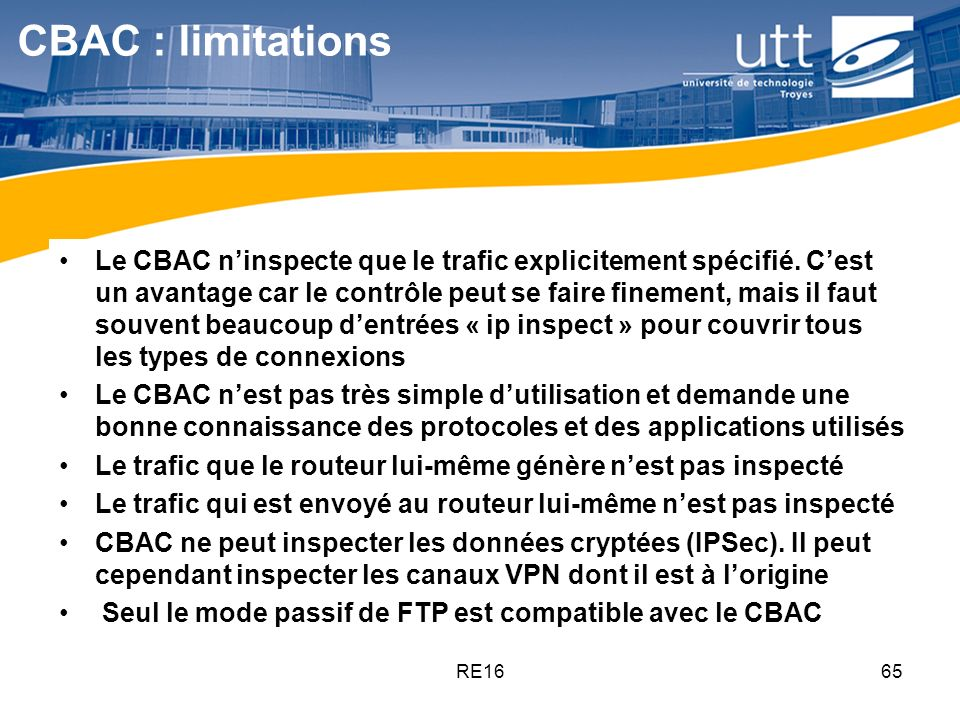 CBAC : limitations