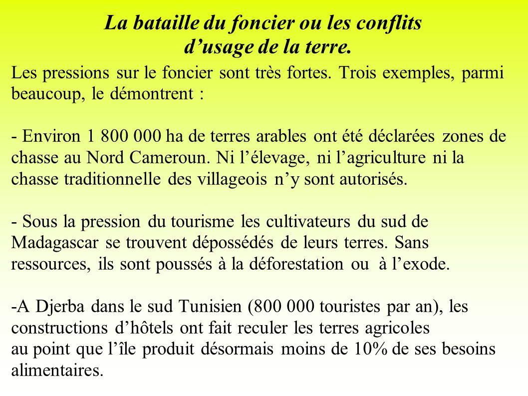 La bataille du foncier ou les conflits d'usage de la terre.