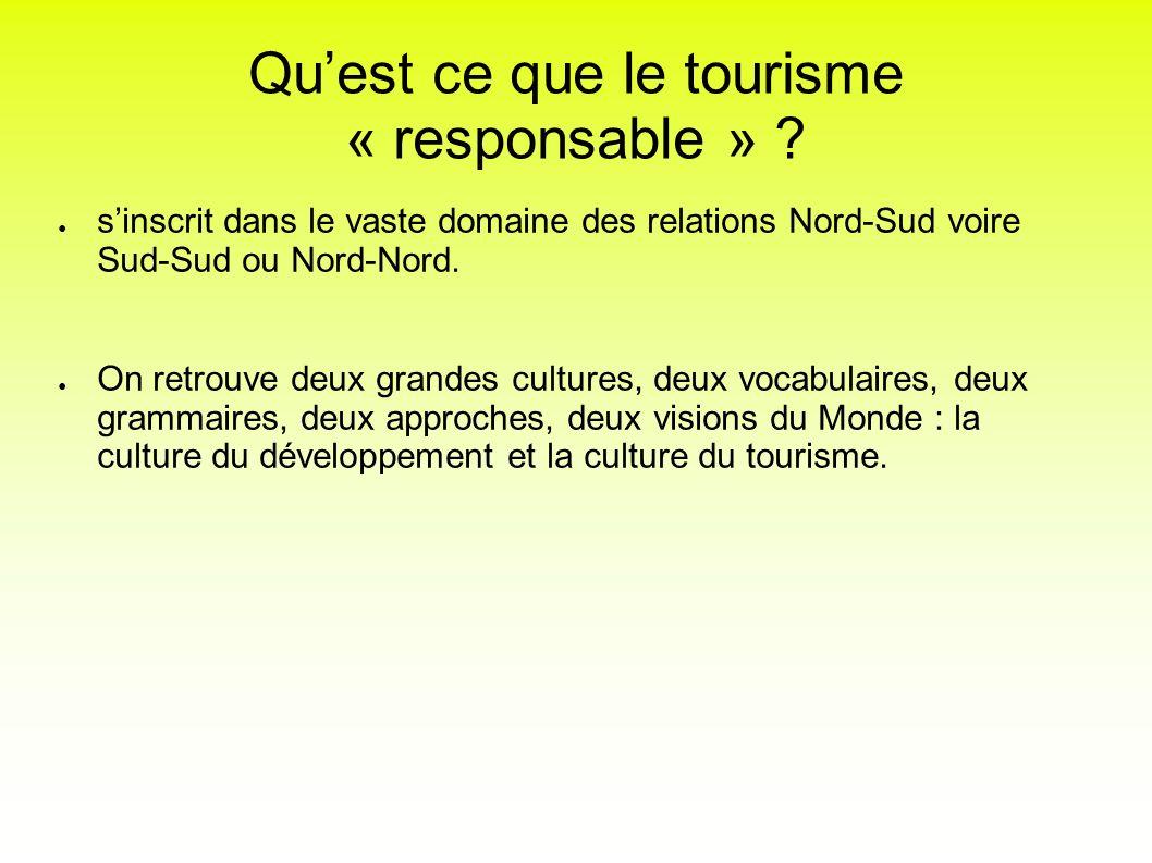 Qu'est ce que le tourisme « responsable »
