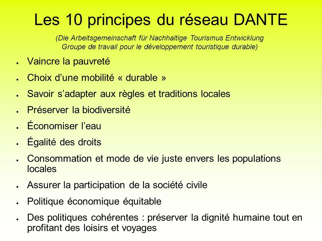 Les 10 principes du réseau DANTE