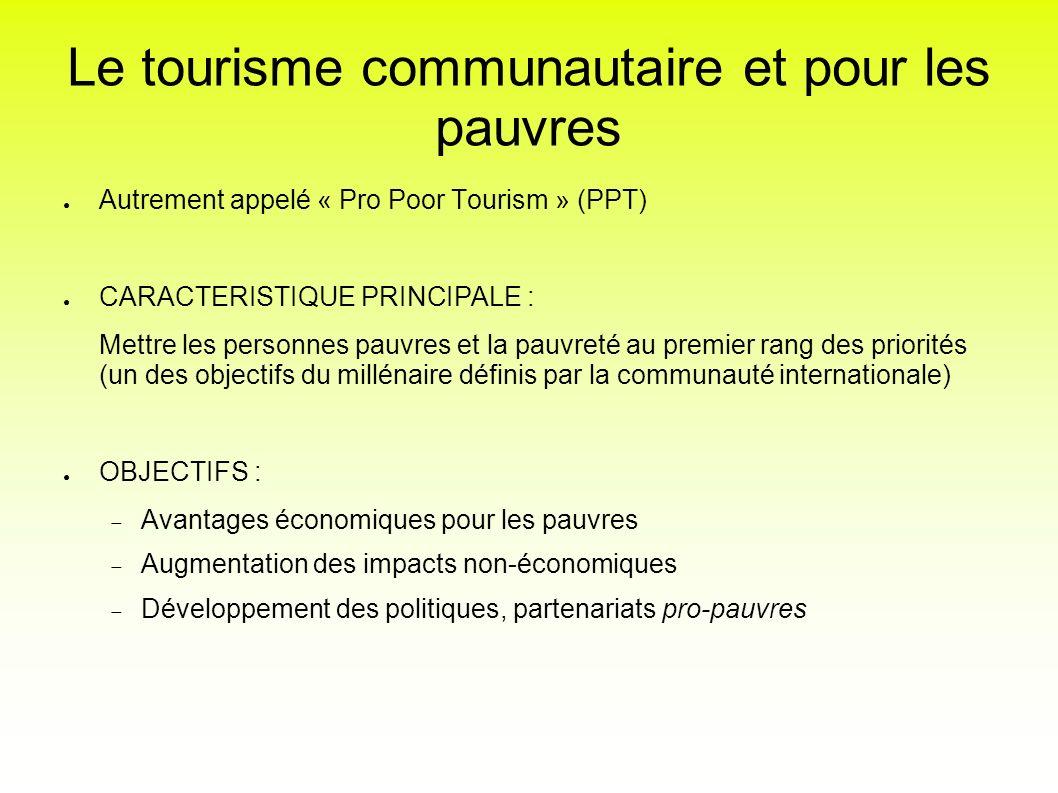 Le tourisme communautaire et pour les pauvres