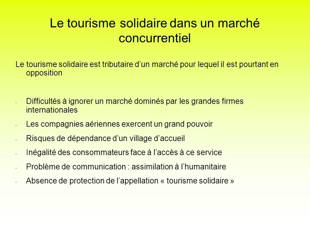 Le tourisme solidaire dans un marché concurrentiel