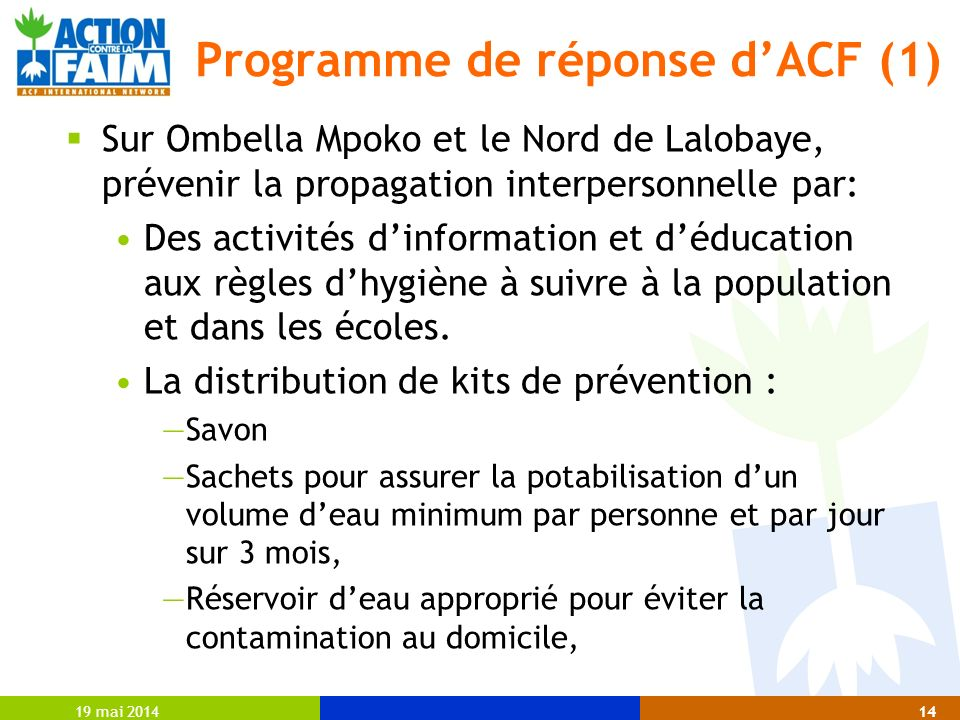 Programme de réponse d'ACF (1)