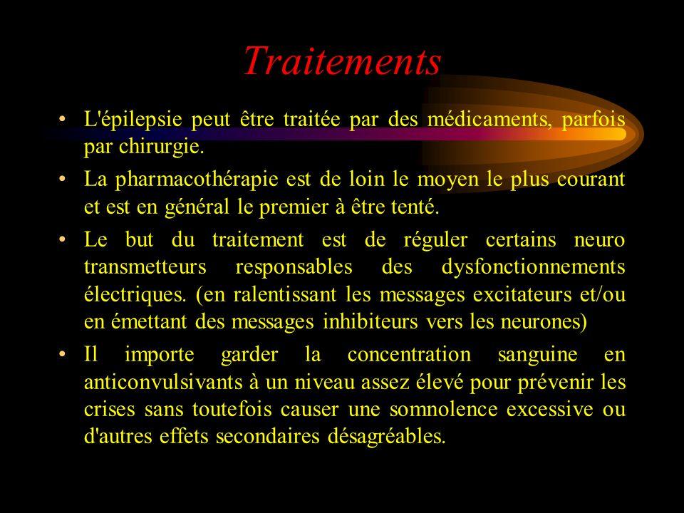 Traitements L épilepsie peut être traitée par des médicaments, parfois par chirurgie.