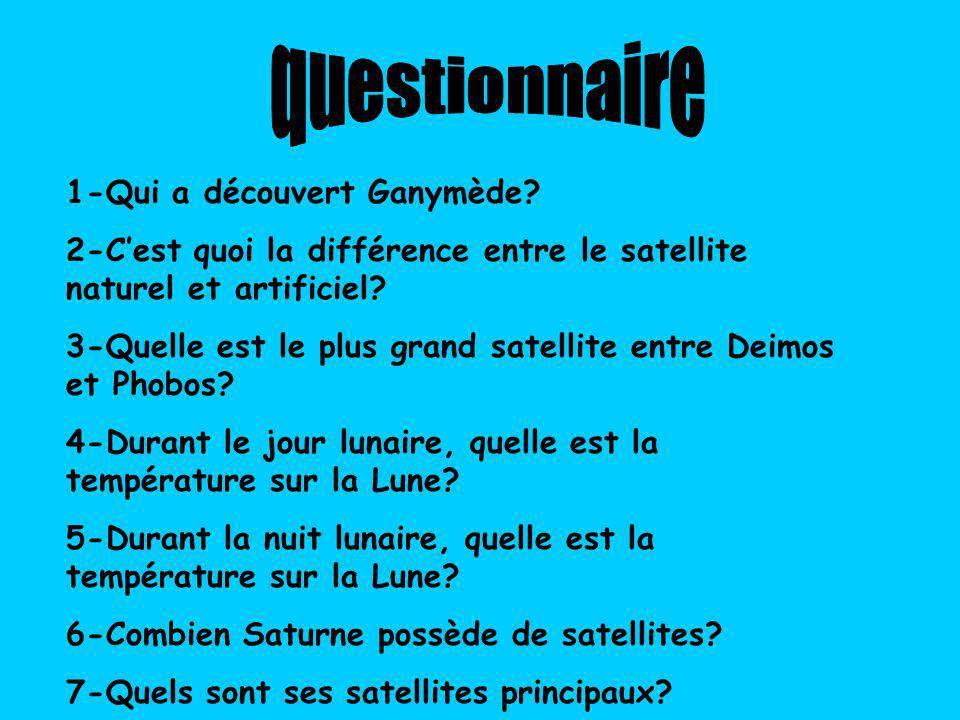 questionnaire 1-Qui a découvert Ganymède