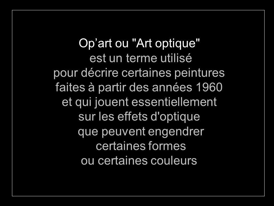 pour décrire certaines peintures faites à partir des années 1960