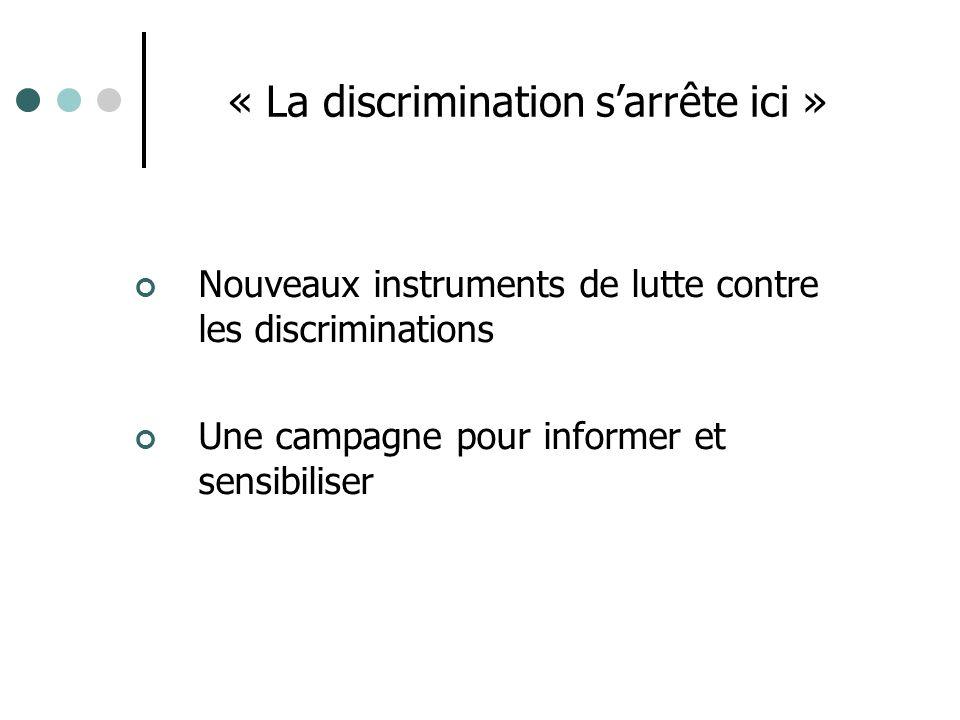 « La discrimination s'arrête ici »