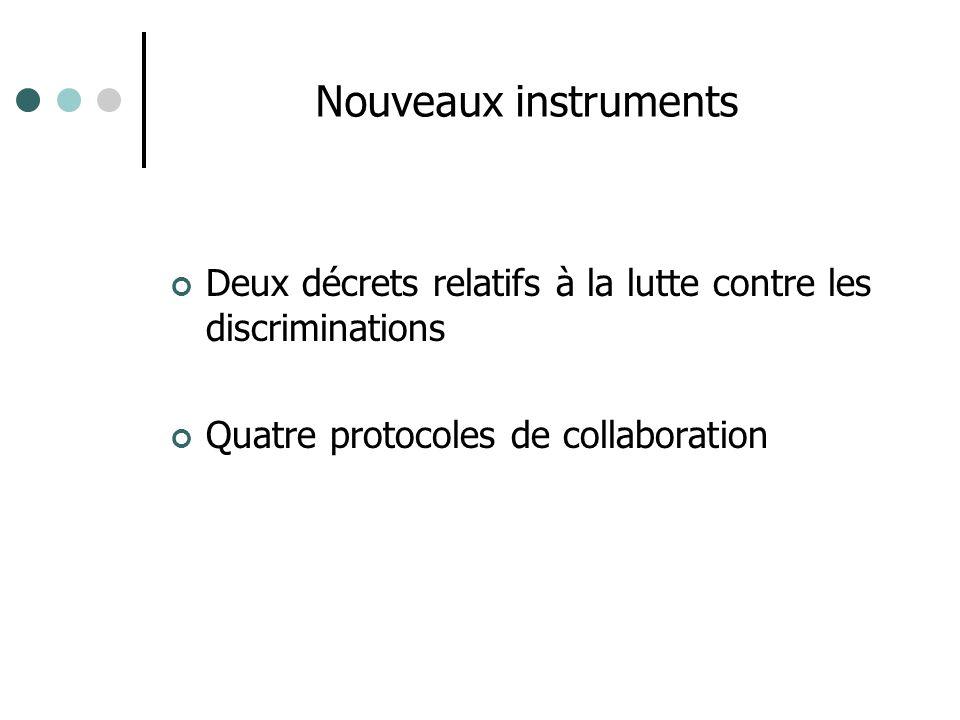 Nouveaux instruments Deux décrets relatifs à la lutte contre les discriminations.