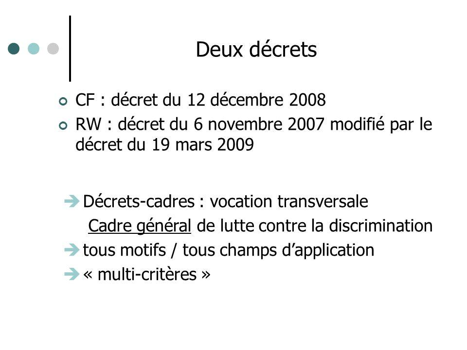 Deux décrets CF : décret du 12 décembre 2008