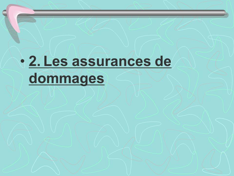 2. Les assurances de dommages
