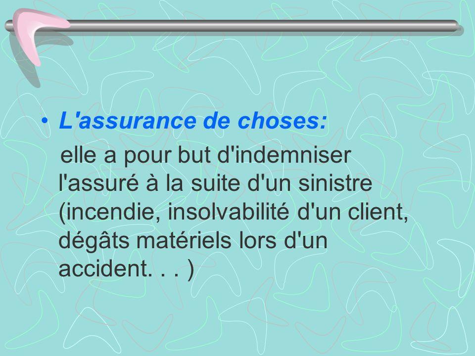 L assurance de choses:
