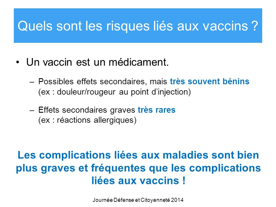Quels sont les risques liés aux vaccins