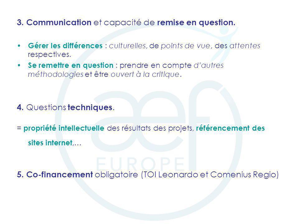 3. Communication et capacité de remise en question.