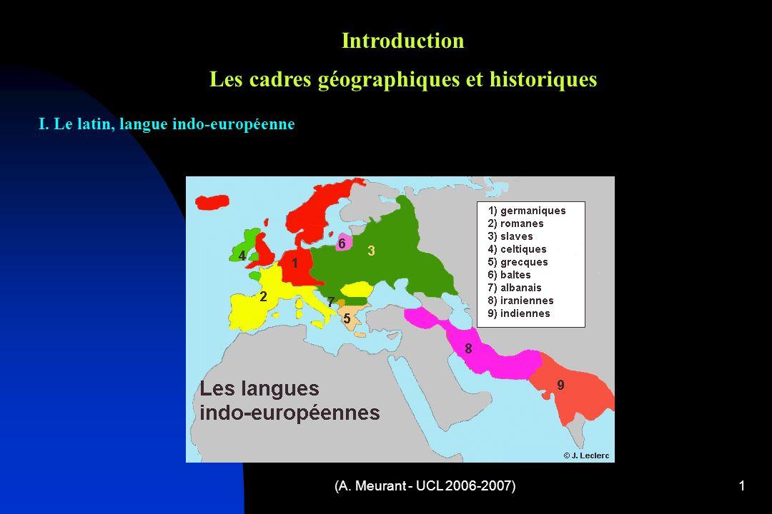 Introduction Les cadres géographiques et historiques