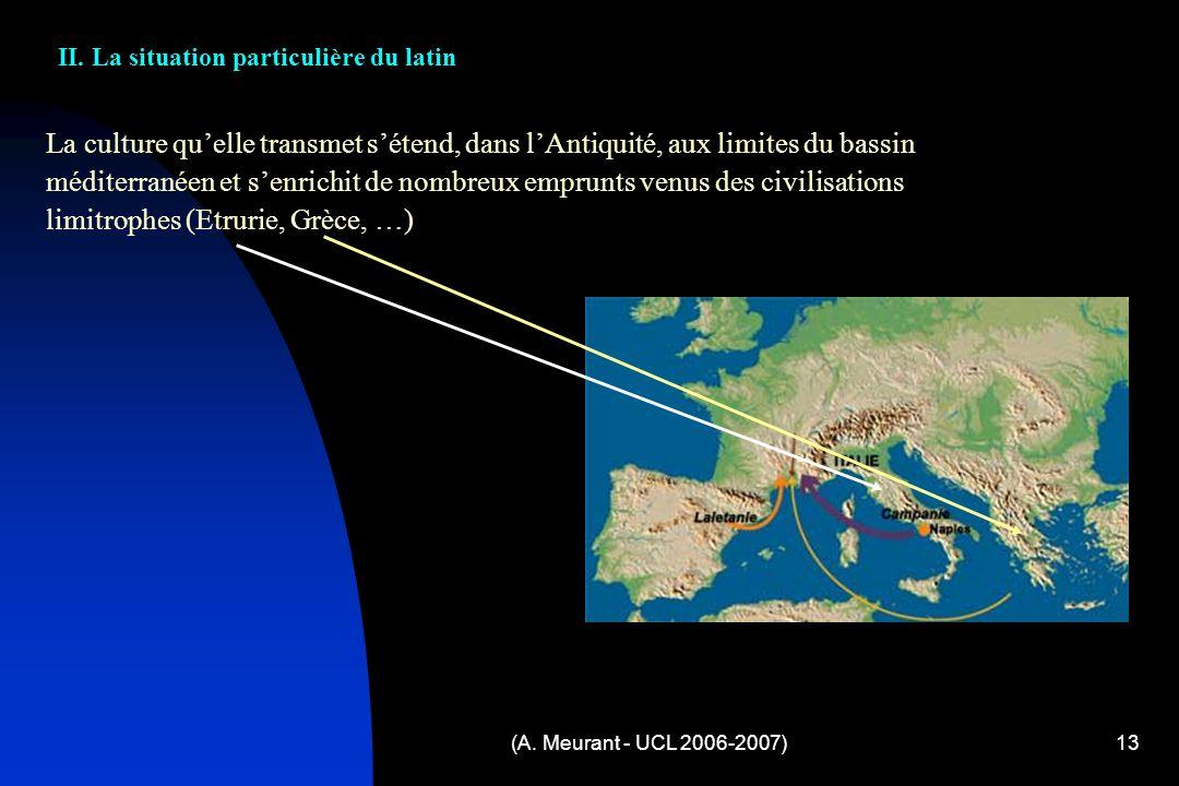 II. La situation particulière du latin