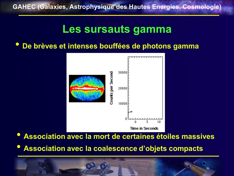 Les sursauts gamma De brèves et intenses bouffées de photons gamma