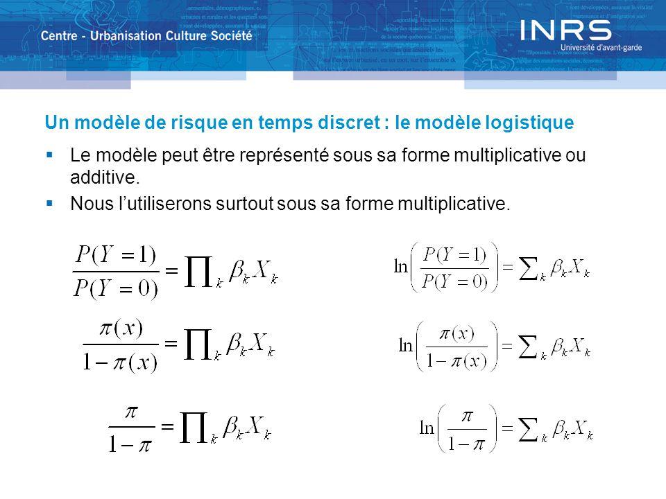 Un modèle de risque en temps discret : le modèle logistique