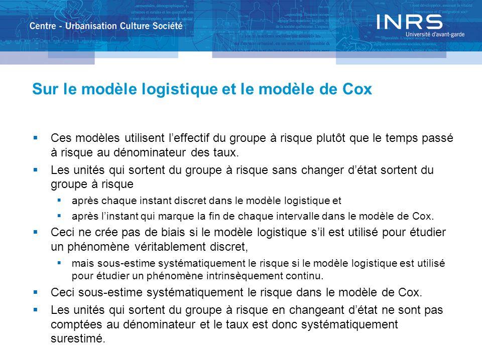 Sur le modèle logistique et le modèle de Cox