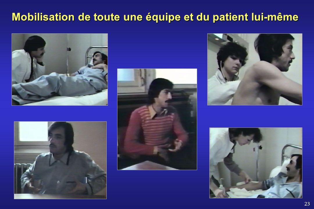 Mobilisation de toute une équipe et du patient lui-même