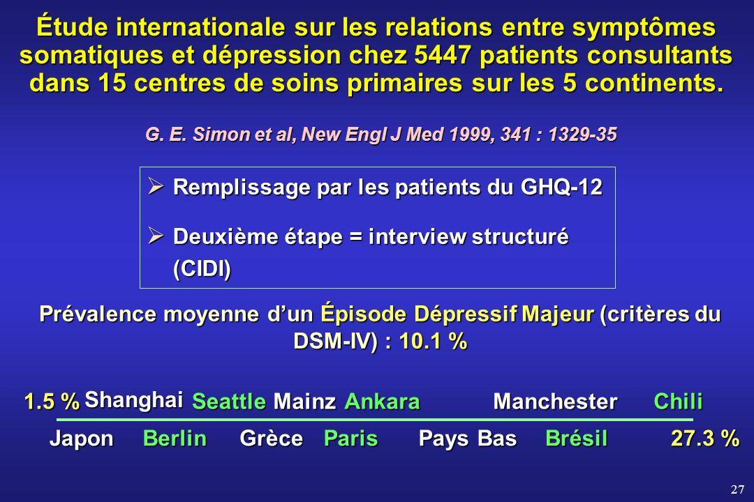 G. E. Simon et al, New Engl J Med 1999, 341 : 1329-35