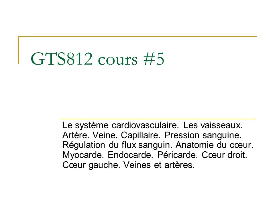 GTS812 cours #5
