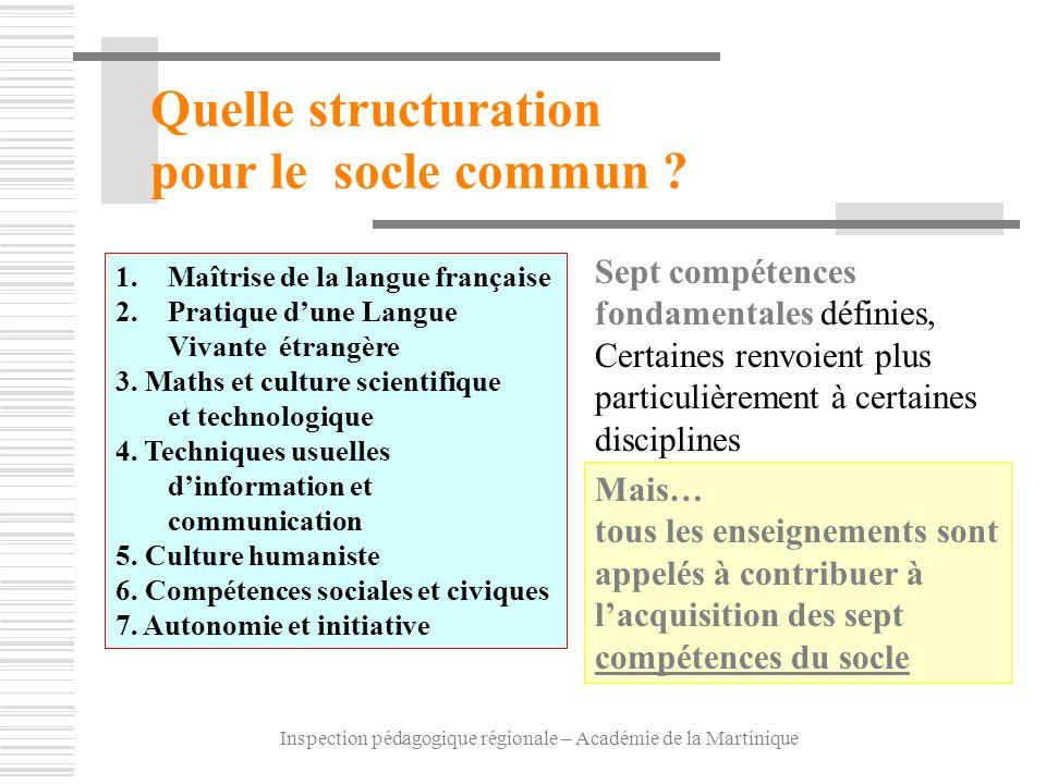 Inspection pédagogique régionale – Académie de la Martinique