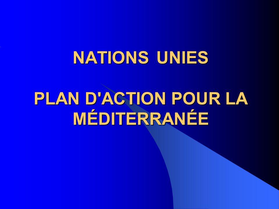 NATIONS UNIES PLAN D ACTION POUR LA MÉDITERRANÉE
