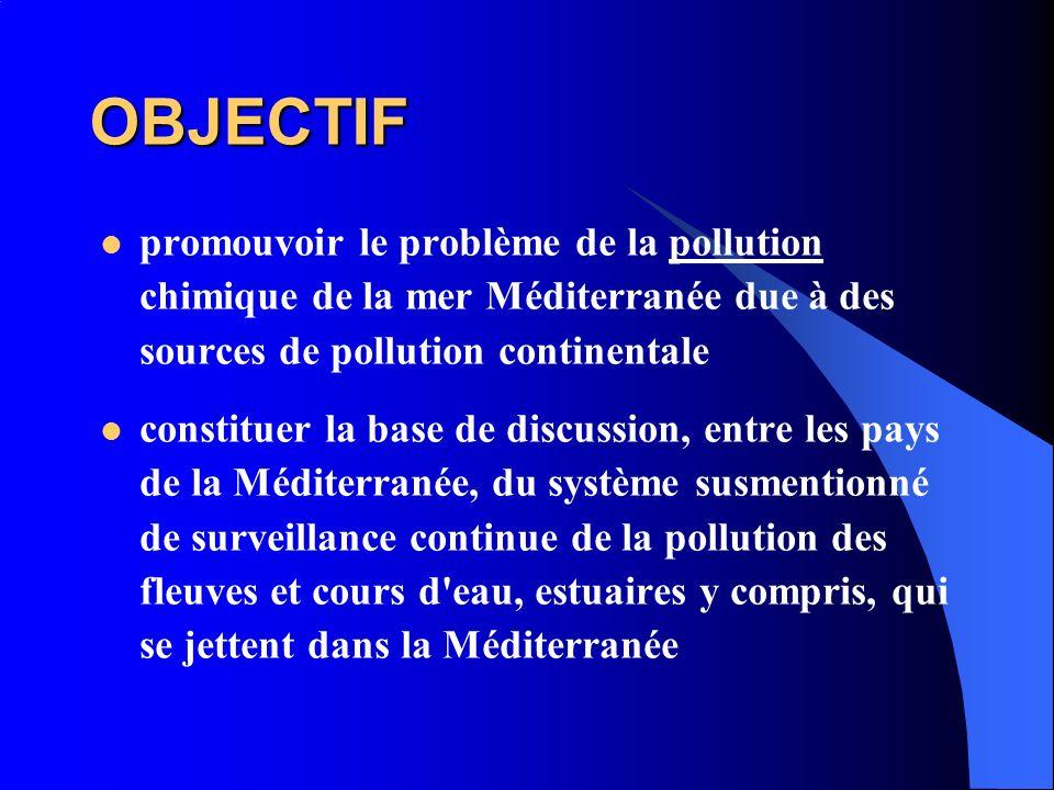 OBJECTIF promouvoir le problème de la pollution chimique de la mer Méditerranée due à des sources de pollution continentale.