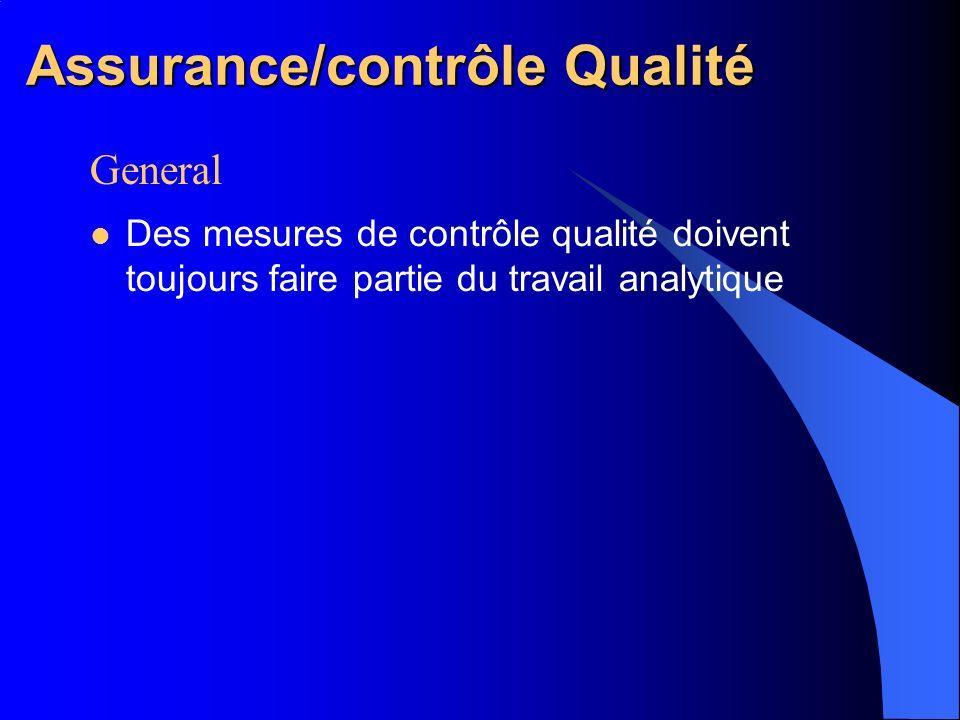 Assurance/contrôle Qualité