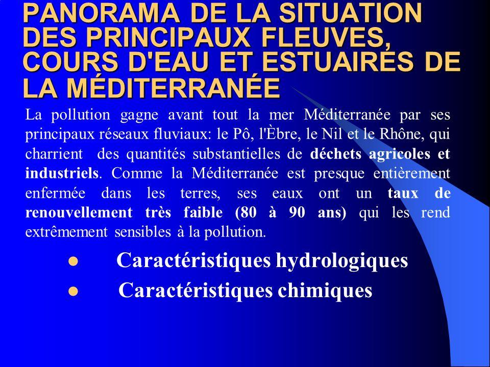 PANORAMA DE LA SITUATION DES PRINCIPAUX FLEUVES, COURS D EAU ET ESTUAIRES DE LA MÉDITERRANÉE