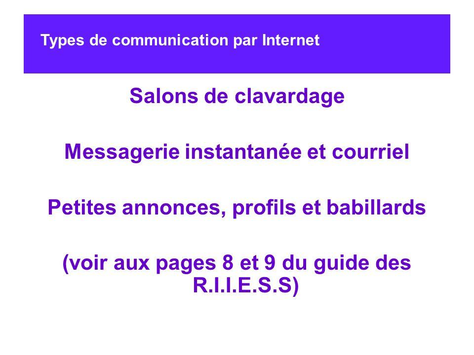 Messagerie instantanée et courriel