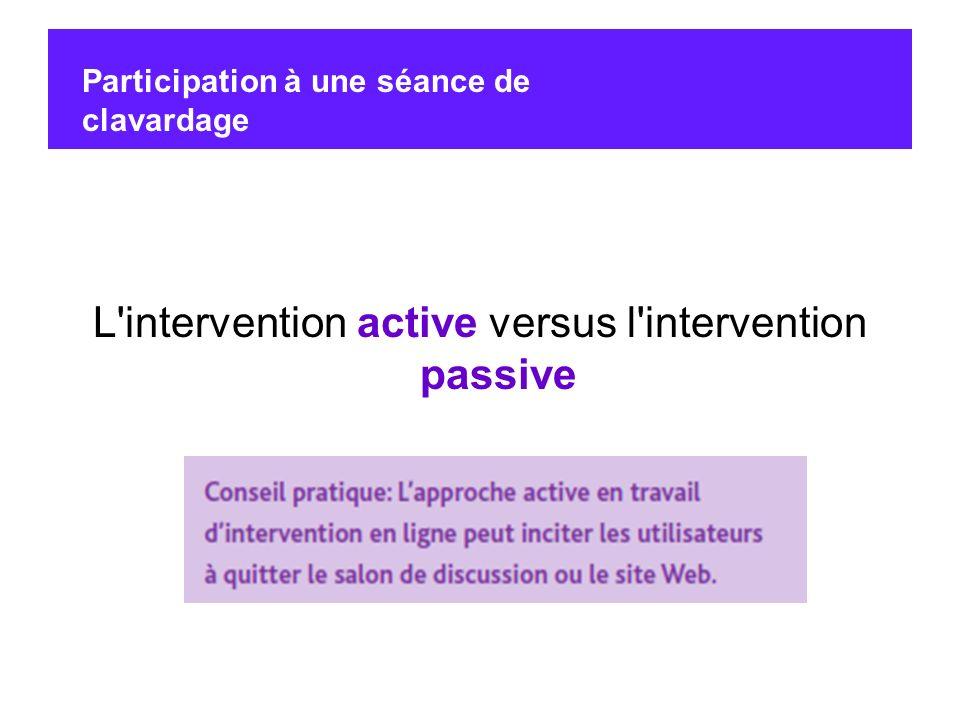 L intervention active versus l intervention passive
