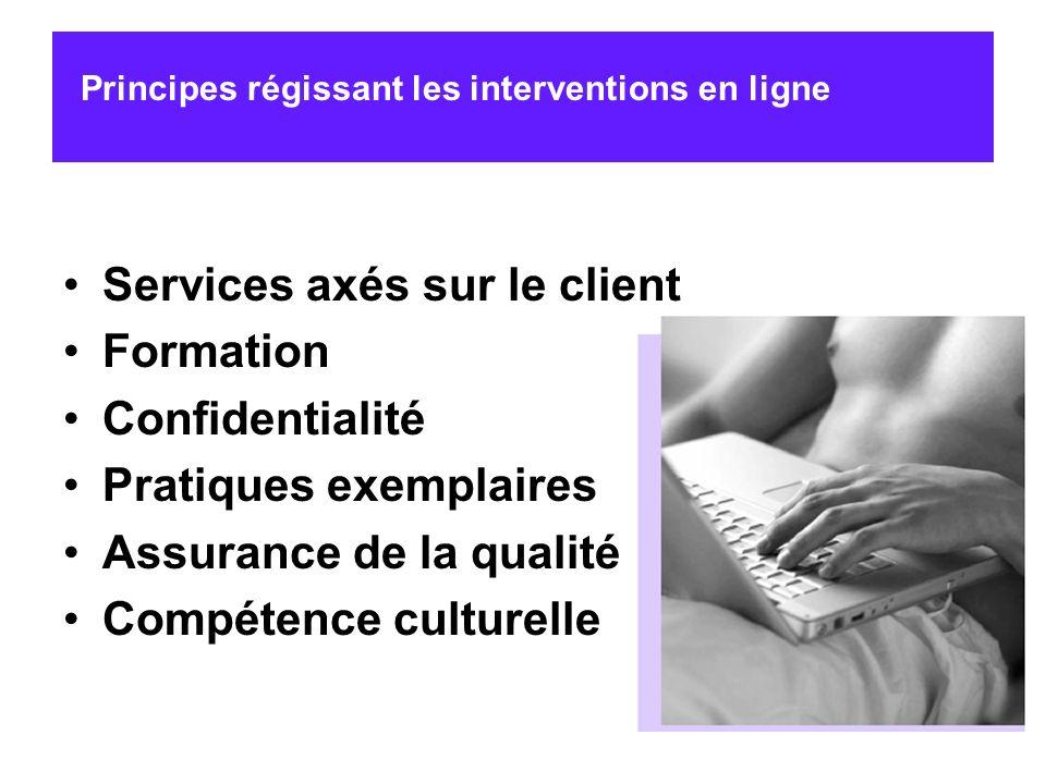 Services axés sur le client Formation Confidentialité