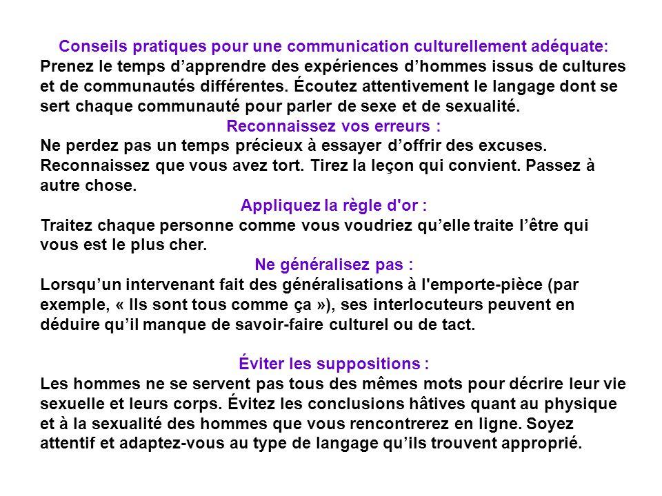 Conseils pratiques pour une communication culturellement adéquate: