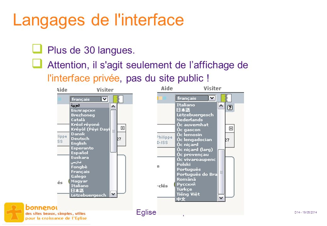 Langages de l interface