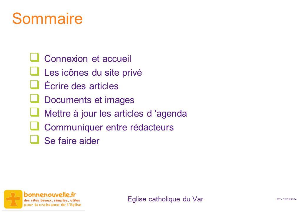 Sommaire Connexion et accueil Les icônes du site privé