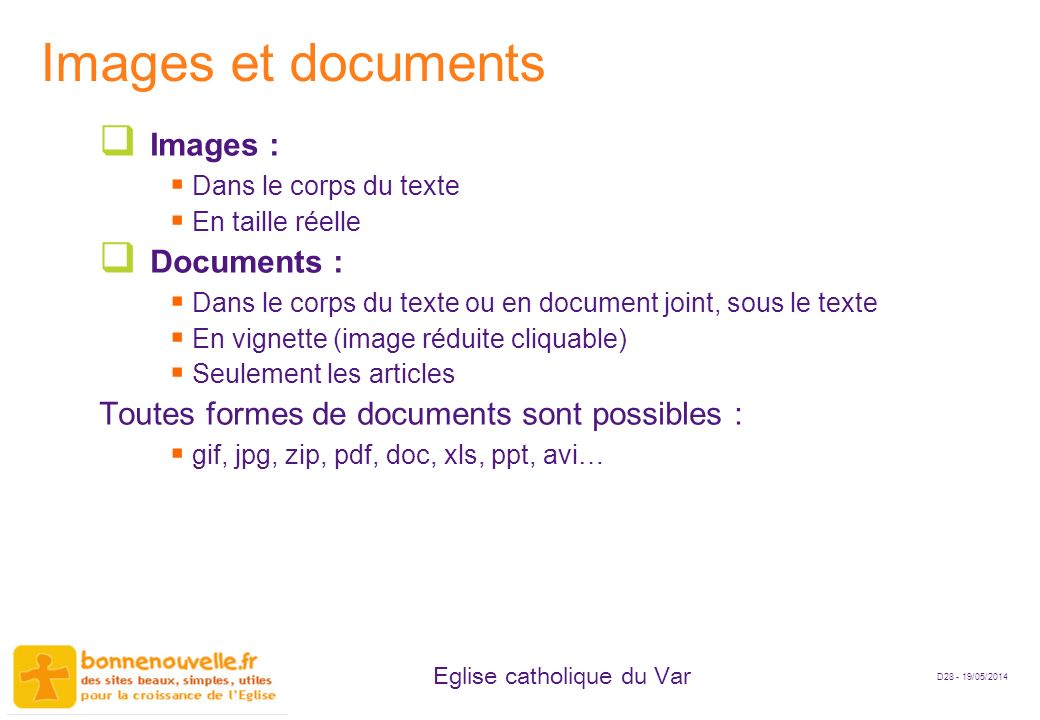 Images et documents Images : Documents :