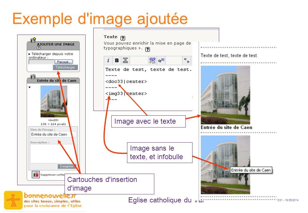 Exemple d image ajoutée