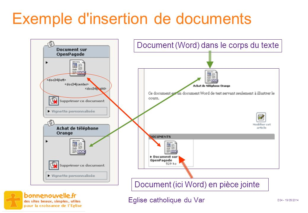 Exemple d insertion de documents