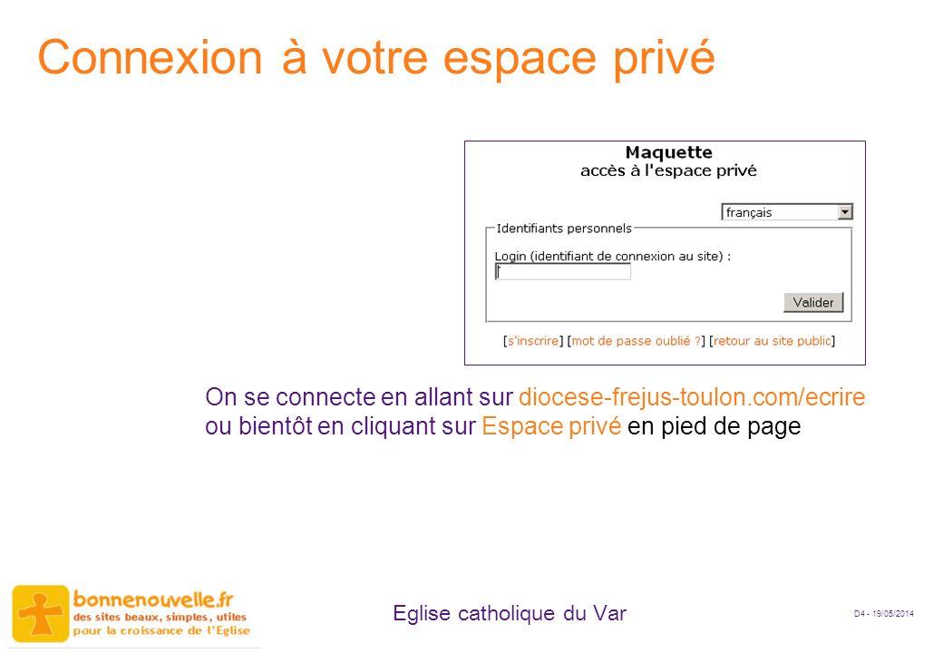 Connexion à votre espace privé